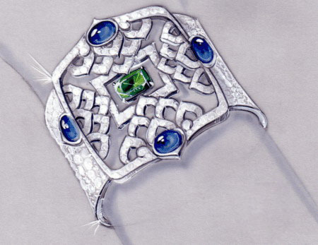 法国经典珠宝设计手稿赏析