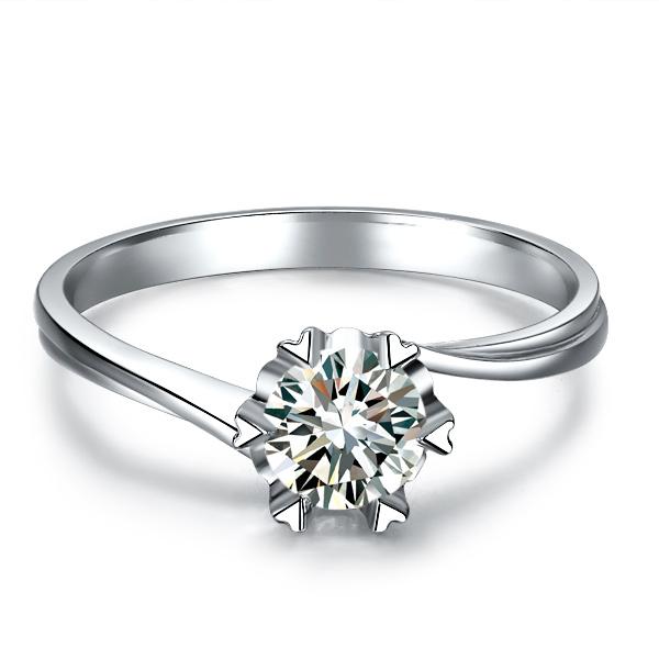 》》点击进入【在水一方】 白18k金45分/0.45克拉钻石戒指