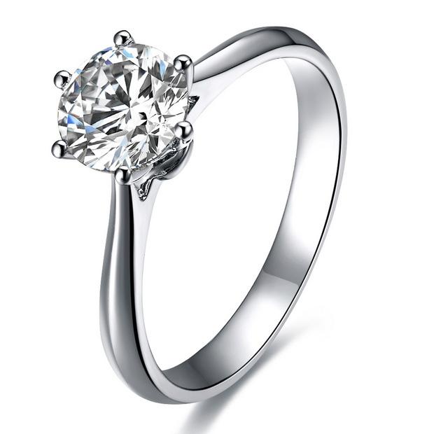 》》点击进入【挚爱】 白18k金钻石戒指