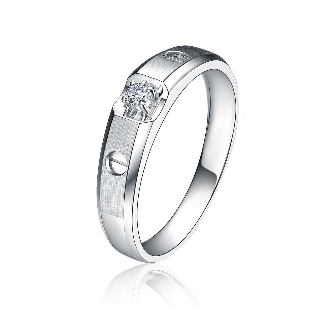 》》点击进入【印记】 白18k金6分/0.06克拉钻石戒指