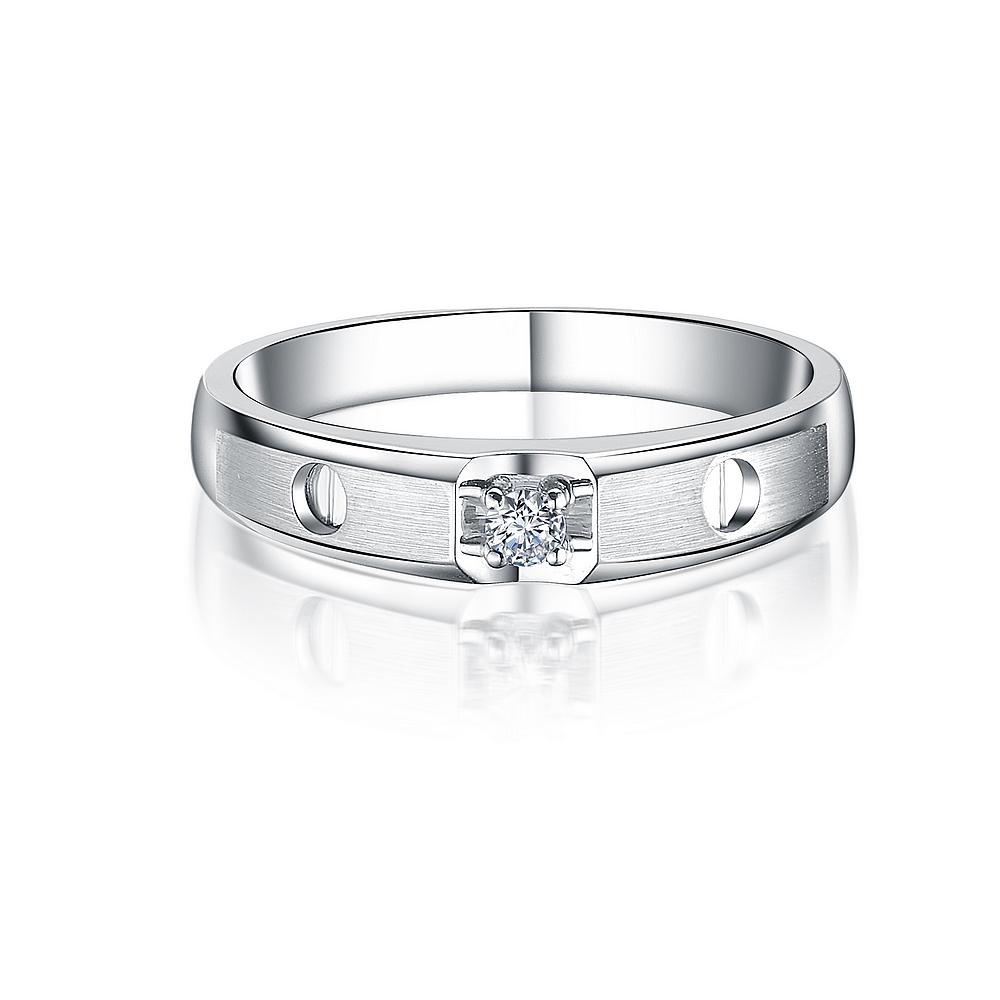 》》点击进入【印记】 白18K金6分/0.06克拉钻石女士戒指
