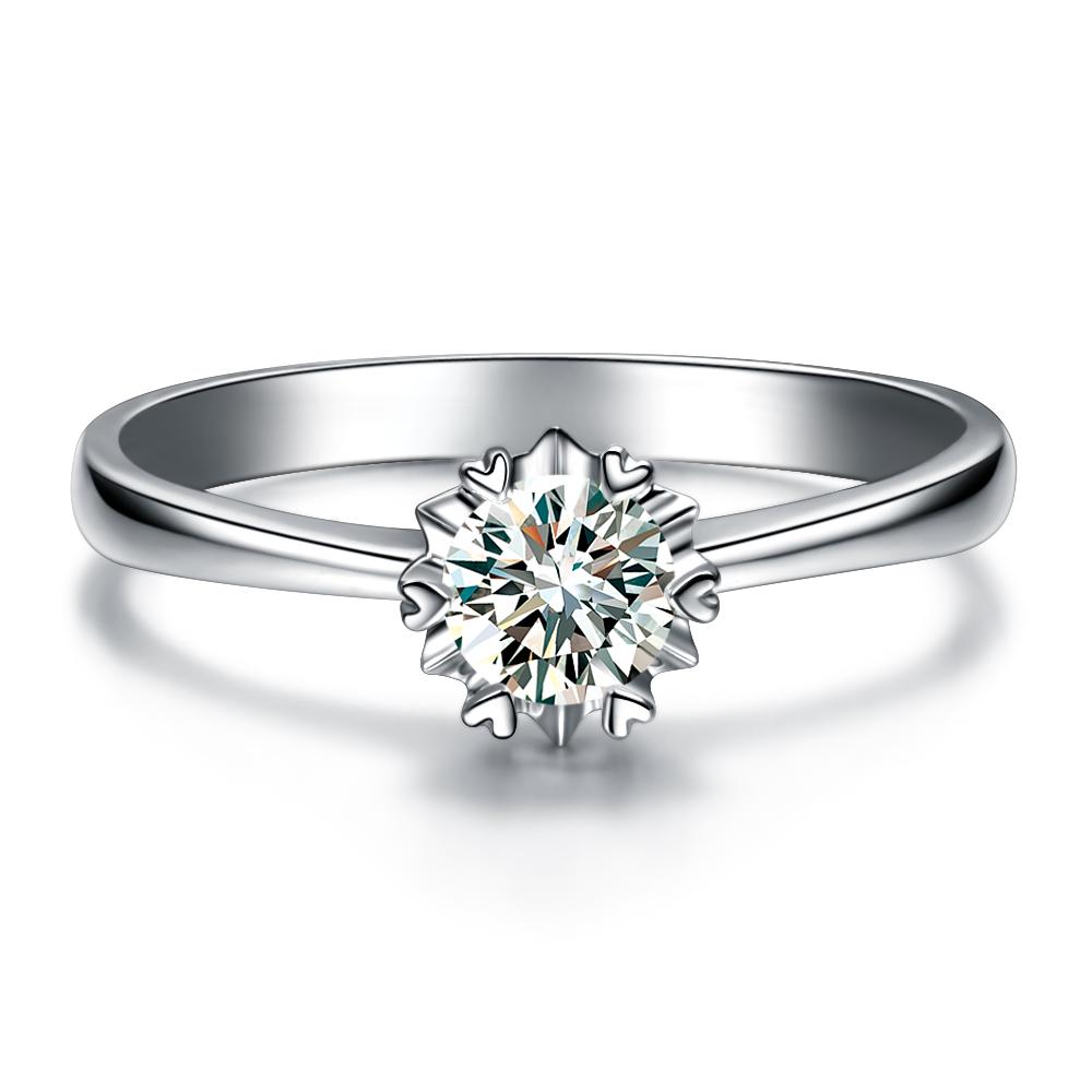 》》点击进入【纯情】 白18K金30分/0.30克拉钻石女士戒指