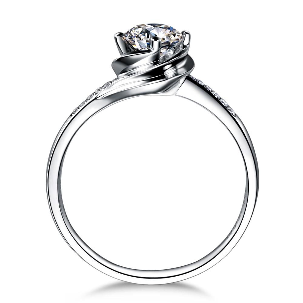 》》点击进入【玫瑰人生】 白18k金40分钻石戒指 新款