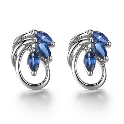 蓝宝石女士耳钉